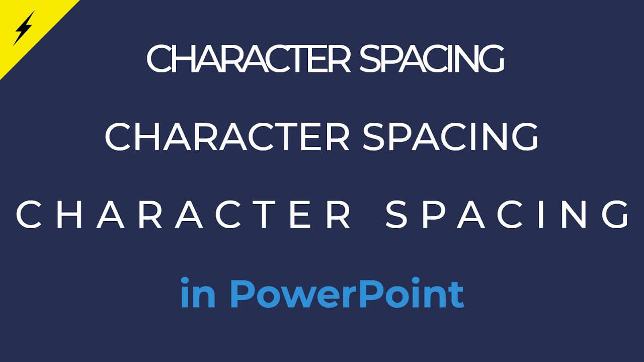 How to change letter spacing in PowerPoint