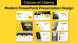 Modern PowerPoint Presentation Design - Course on Udemy